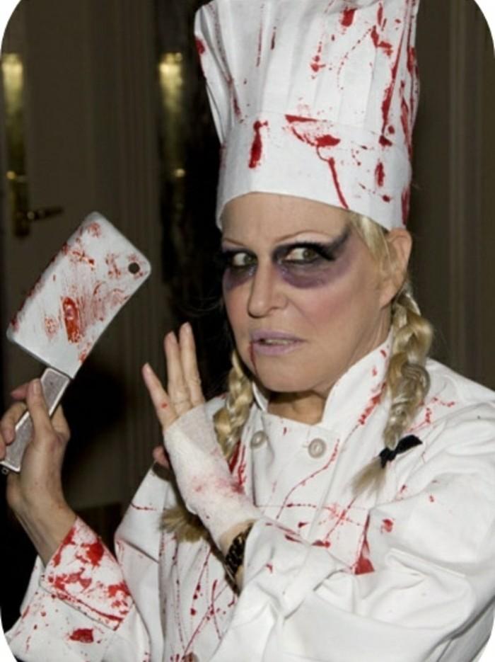bett-midler-déguisé-en-chef-zombie-déguisement-halloween-facile
