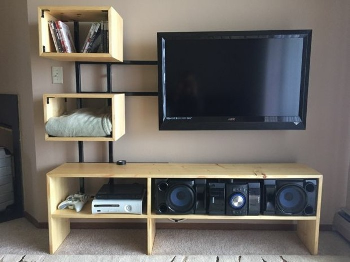 faire un meuble tv design – Artzein.com