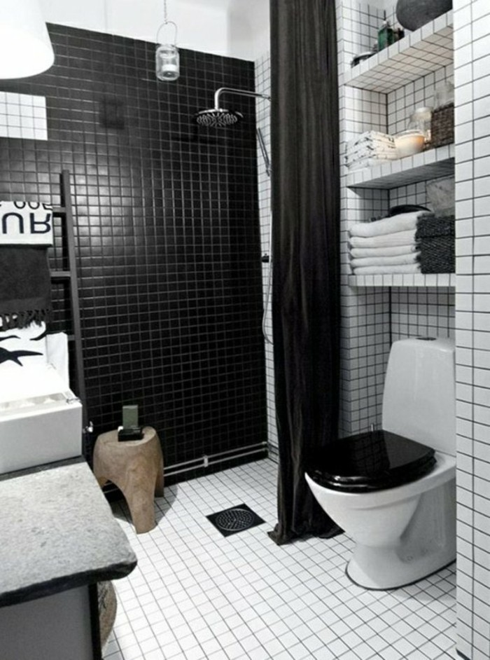 good plan salle de bain 4m2 8 amenagement petite salle de bain 2m2 carrelage blanc noir. Black Bedroom Furniture Sets. Home Design Ideas