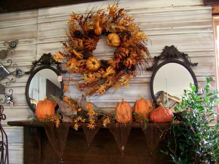 bricolage-automne-diy-coronne-de-feuilles-decedes-cone-de-pin-citrouille-orange