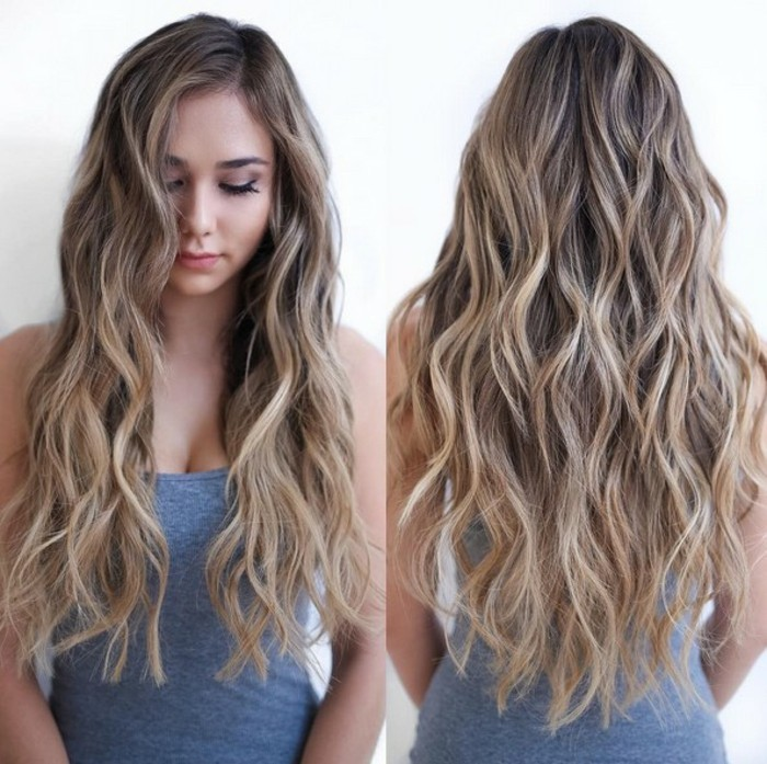 brune-balayage-caramel-idee-comment-faire-blonde