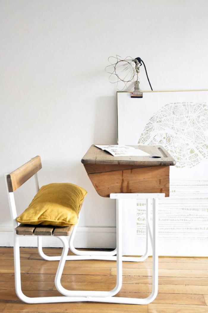 bureau-d-ecolier-bureau-eleve-design-vintage