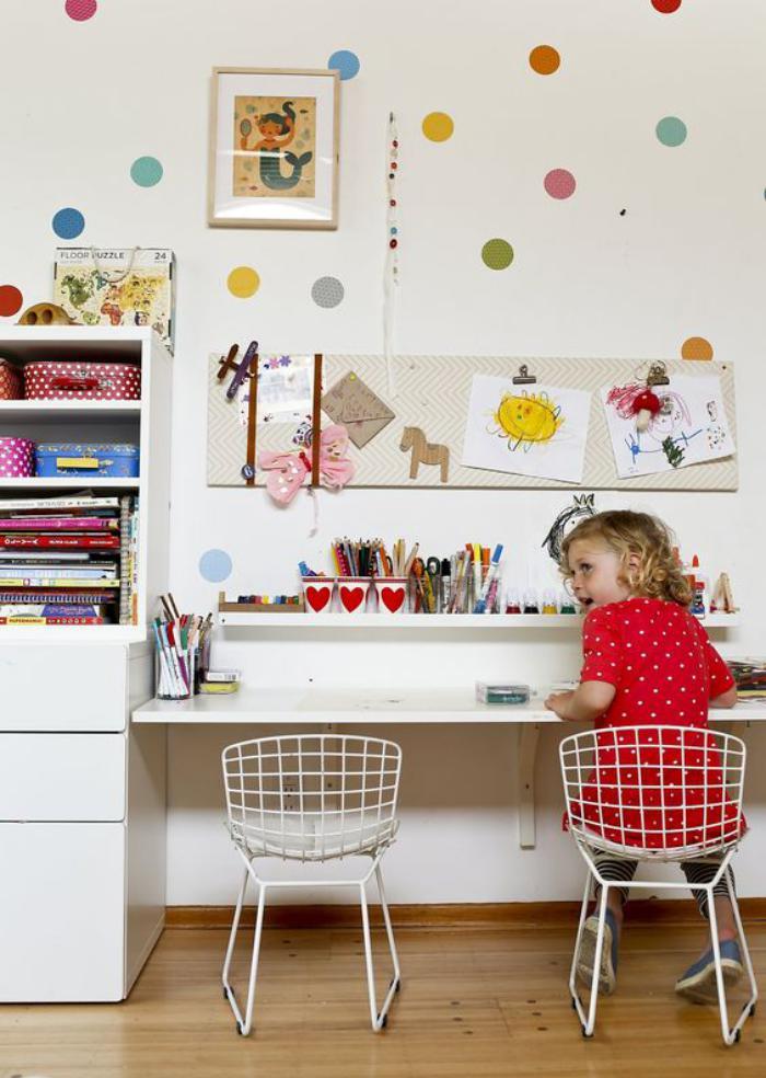 bureau-d-ecolier-bureau-blanc-pour-deux-enfants
