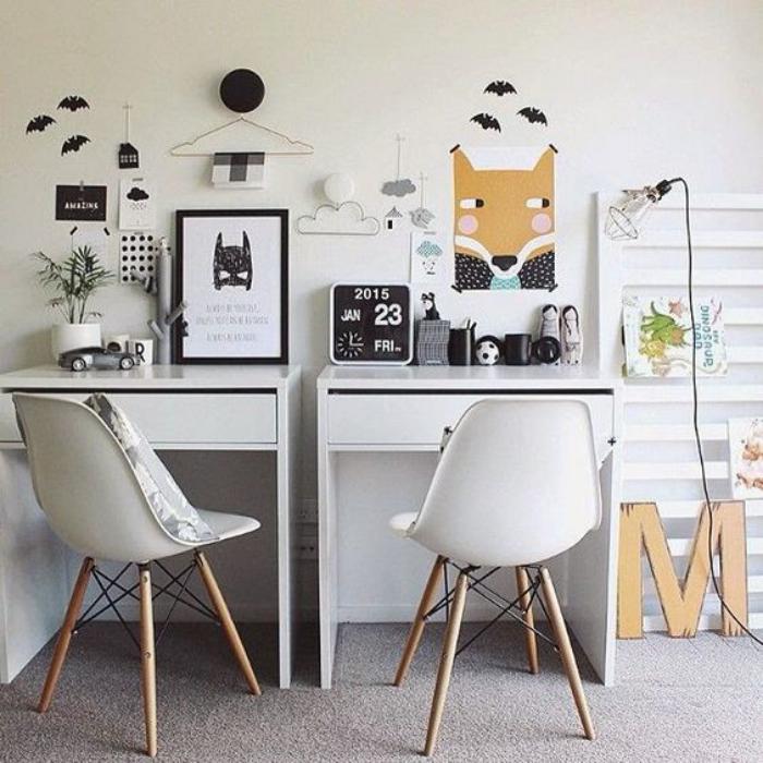 bureau-d-ecolier-deux-bureaux-enfant-style-scandinave