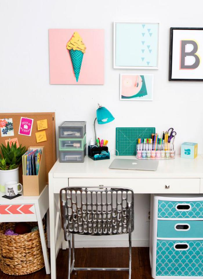 bureau-d-ecolier-espace-de-travail-en-blanc-et-turquoise