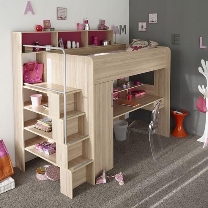 bureau-d-ecolier-lit-avec-bureau-en-bois