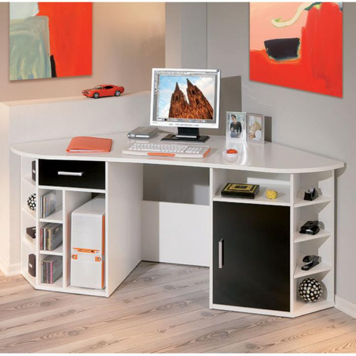 un bureau informatique d 39 angle quel bureau choisir pour votre petit office. Black Bedroom Furniture Sets. Home Design Ideas
