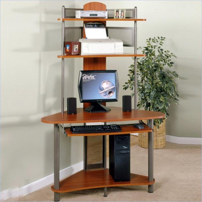 Un bureau informatique d 39 angle quel bureau choisir pour votre petit office - Meuble d angle pour ordinateur ...