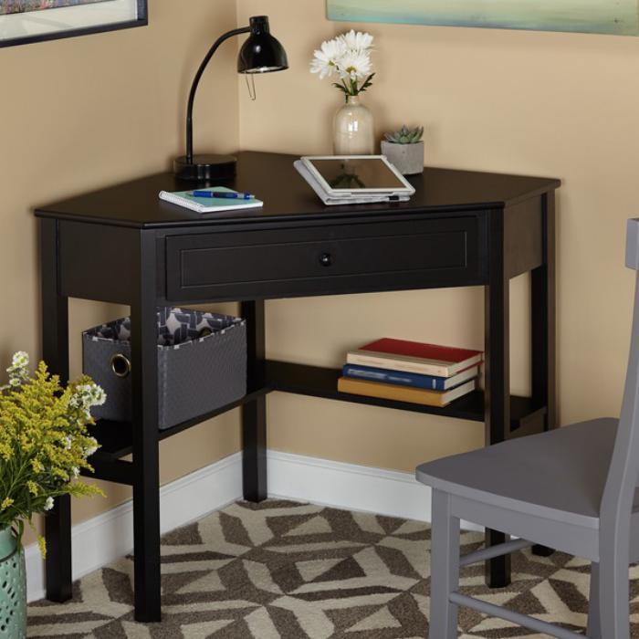 bureau-informatique-d-angle-bureau-simple-bois-fonce-chaise-grise
