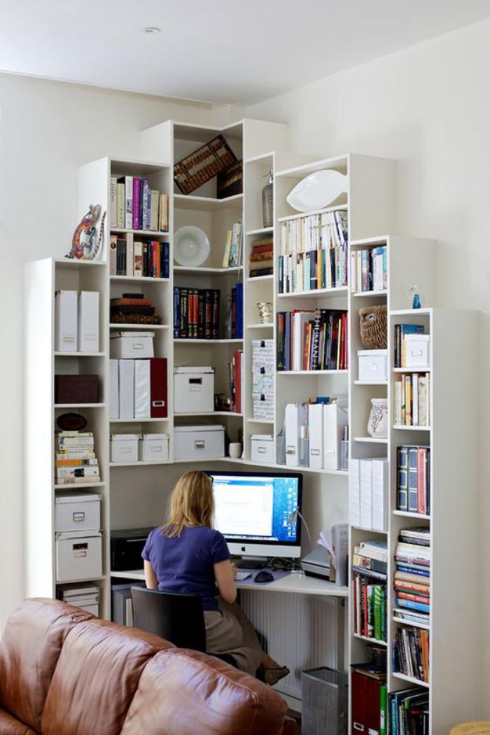 Un bureau informatique d 39 angle quel bureau choisir pour votre petit office - Tote ecke wohnzimmer ...