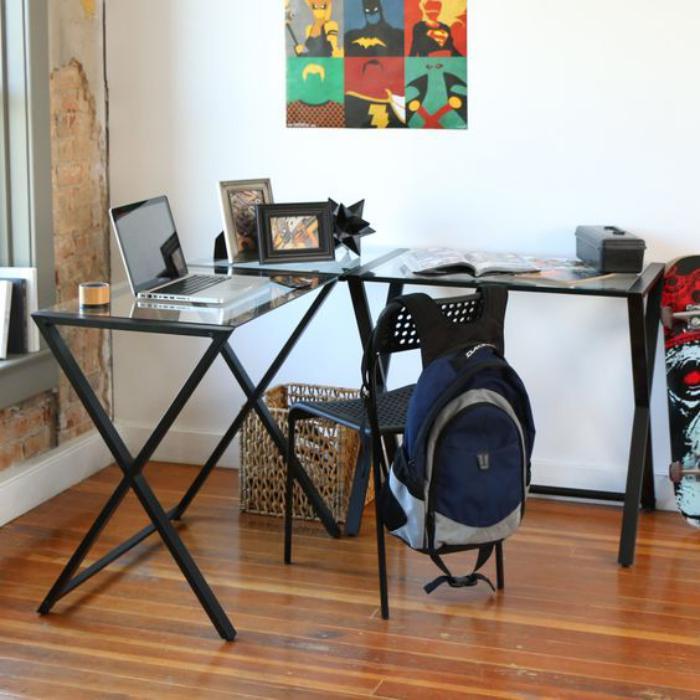 Un bureau informatique d 39 angle quel bureau choisir pour votre petit office - Petit bureau chambre ...