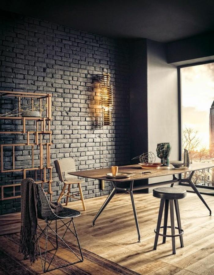 bureau-style-industriel-étagère-métallique