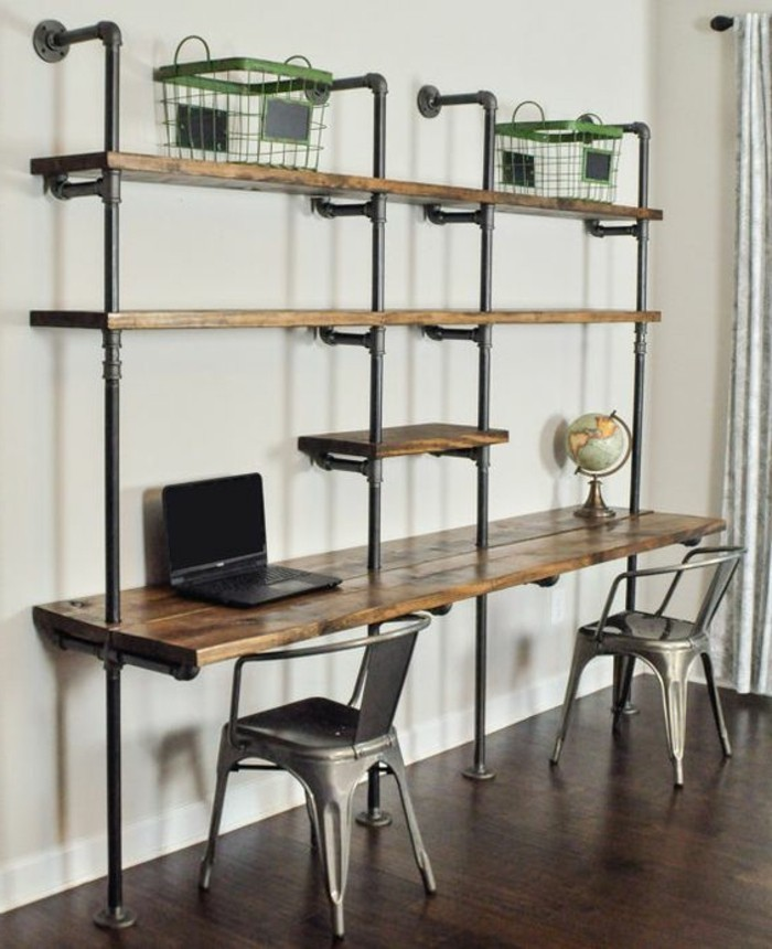 bureau style industriel bureau style industriel alex photo decoration d co bureau style. Black Bedroom Furniture Sets. Home Design Ideas