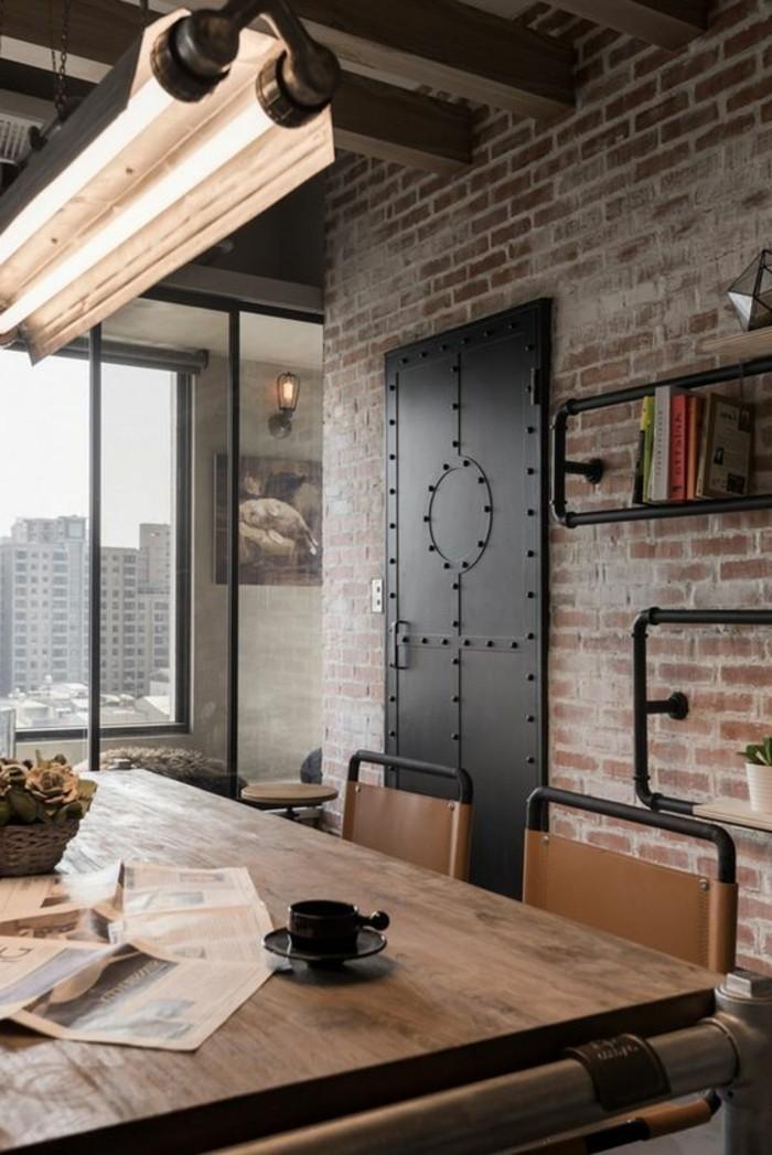 bureau-style-industriel-bois-et-métal-intérieur-origin