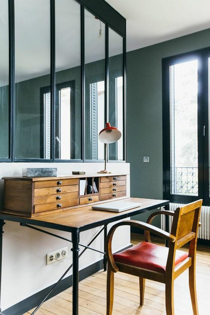 bureau-style-industriel-bureau-bois-et-métal-vintage