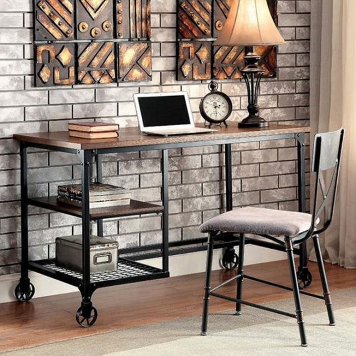 bureau-style-industriel-bureau-métal-bois