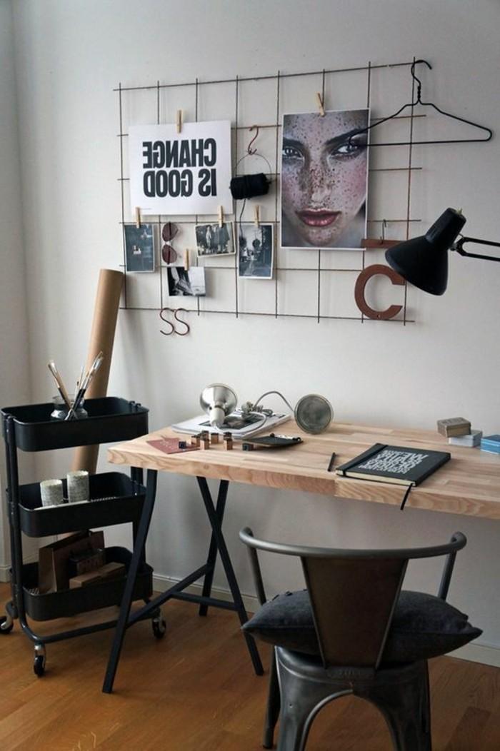 bureau-style-industriel-chaise-industrielle-métal