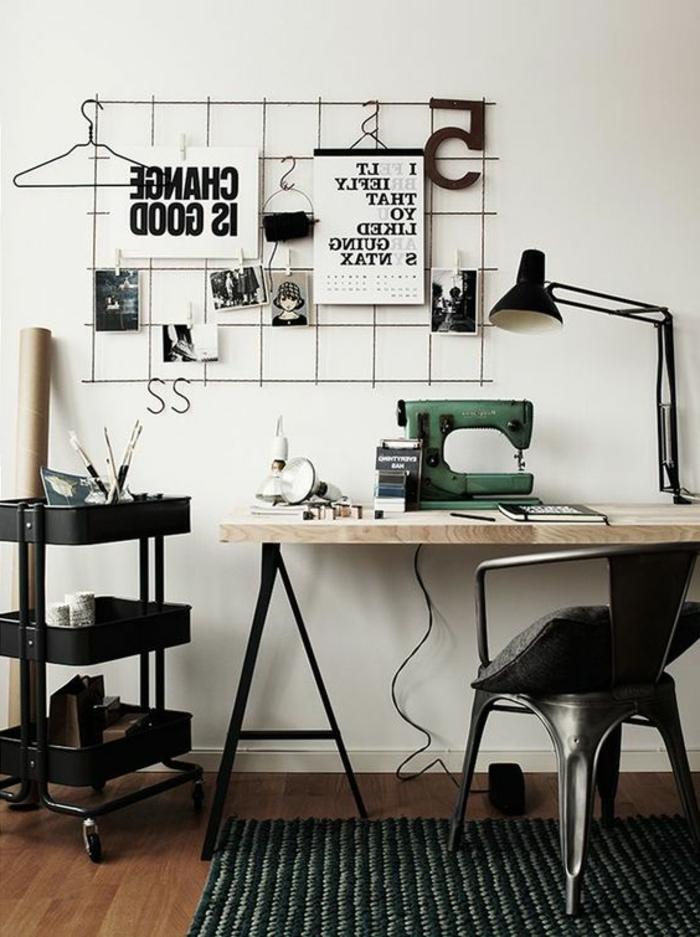 bureau-style-industriel-chaise-tolix-bureau-métal-bois