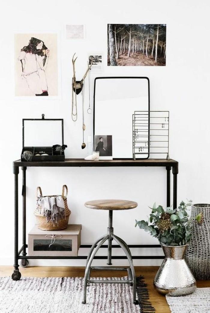 bureau-style-industriel-décor-industriel-tabouret