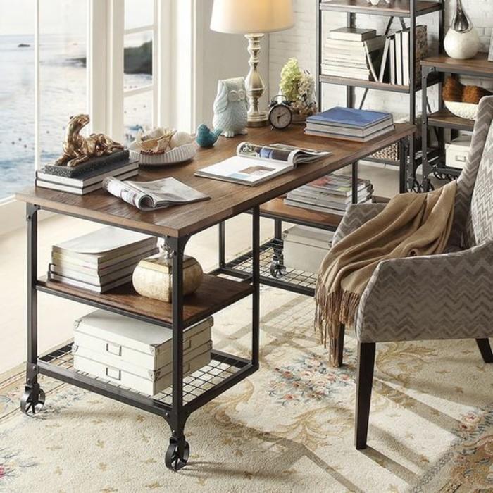 id es de d coration d 39 un bureau style industriel. Black Bedroom Furniture Sets. Home Design Ideas