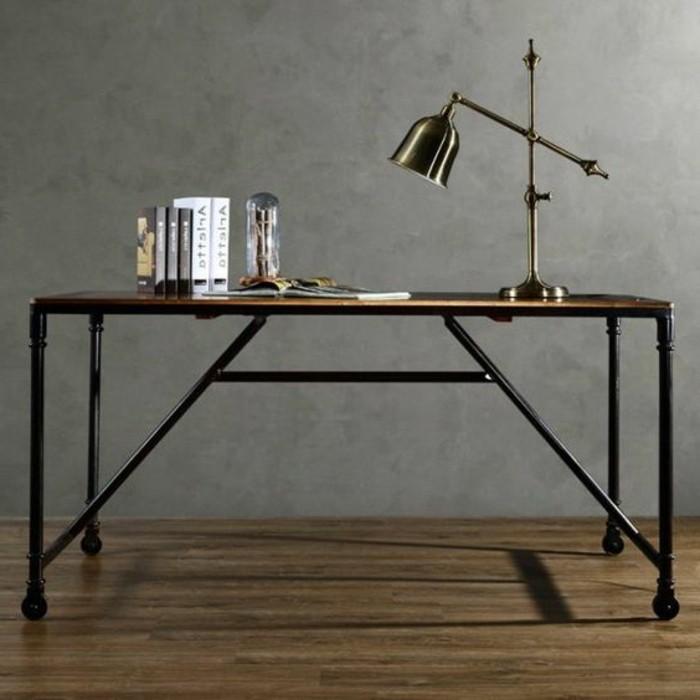 bureau-style-industriel-joli-design-bureau-bois-et-métal