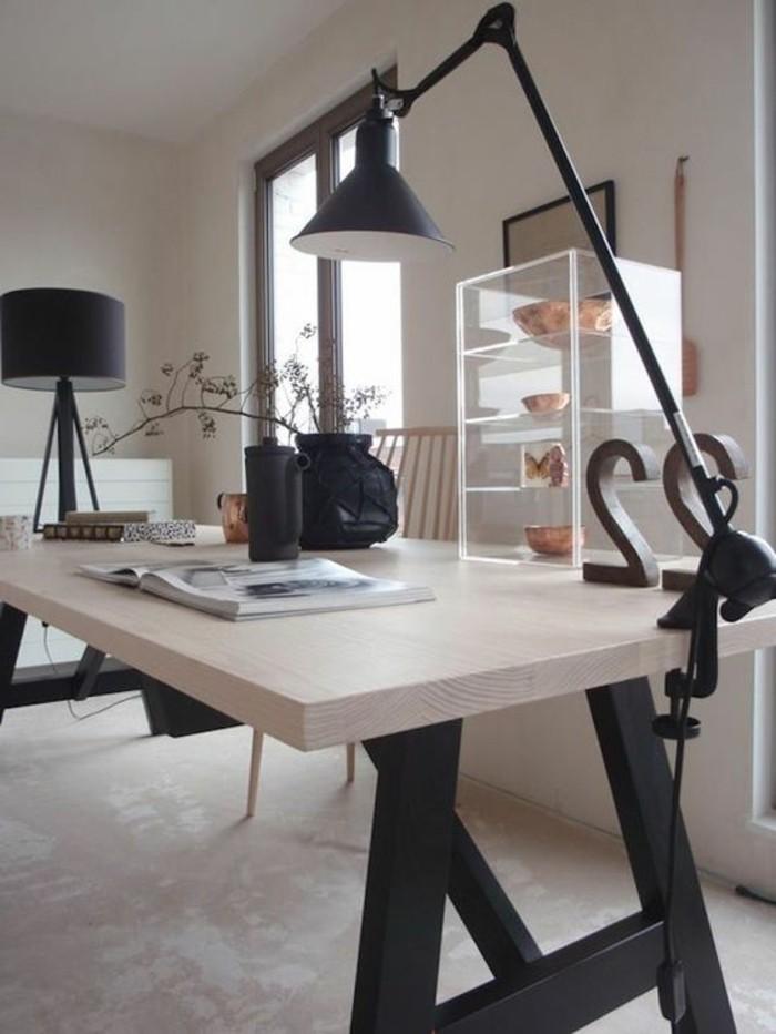 Id es de d coration d 39 un bureau style industriel - Lampe de bureau style industriel ...