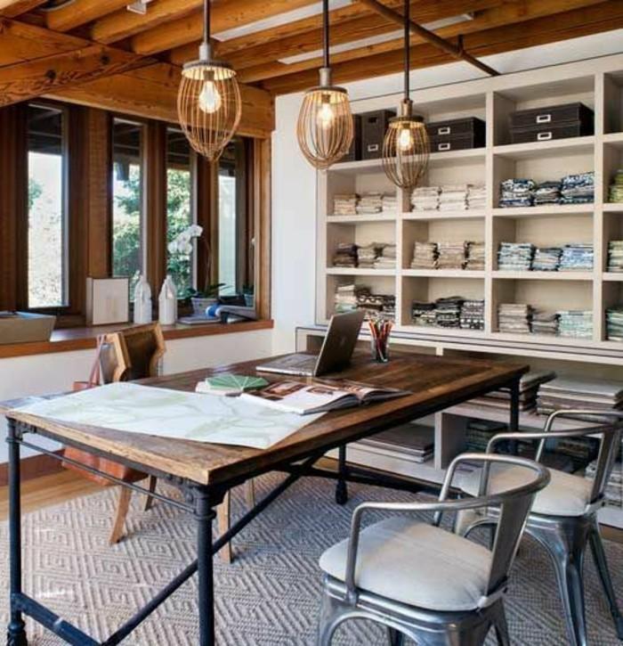 bureau-style-industriel-plafond-en-bois