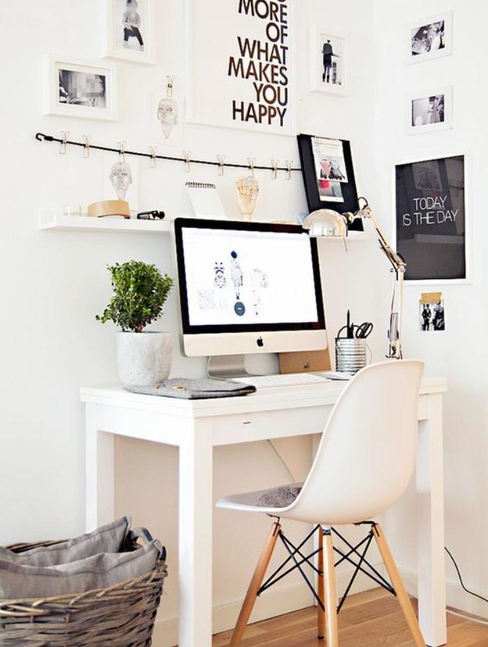 bureau-style-scandinave-étagère-en-bois-design