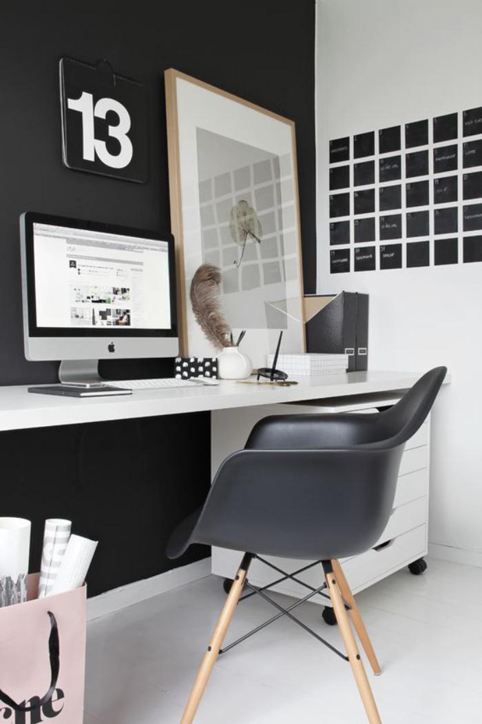 am nagement d 39 un petit espace de travail le bureau style. Black Bedroom Furniture Sets. Home Design Ideas
