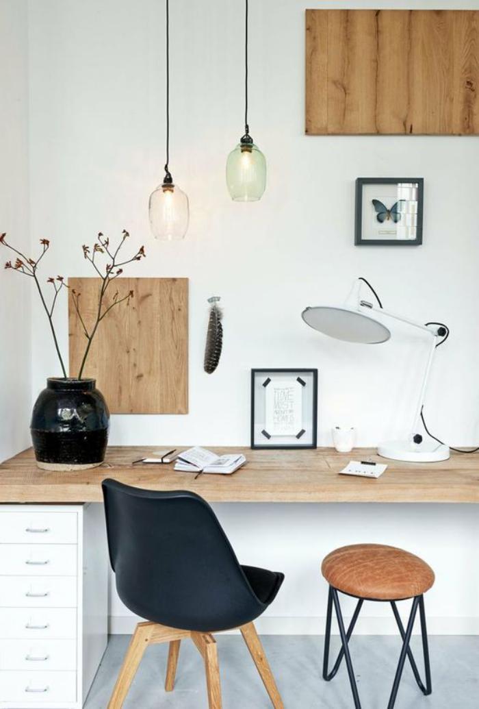am nagement d 39 un petit espace de travail le bureau style. Black Bedroom Furniture Sets. Home Design Ideas