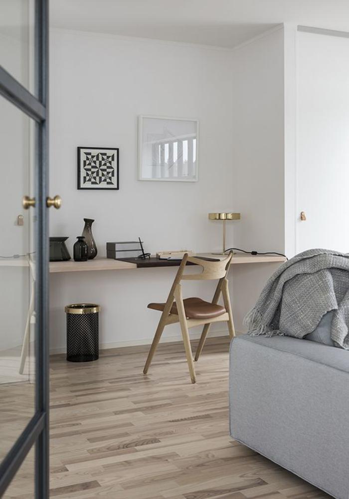 Am Nagement D 39 Un Petit Espace De Travail Le Bureau Style Scandinave