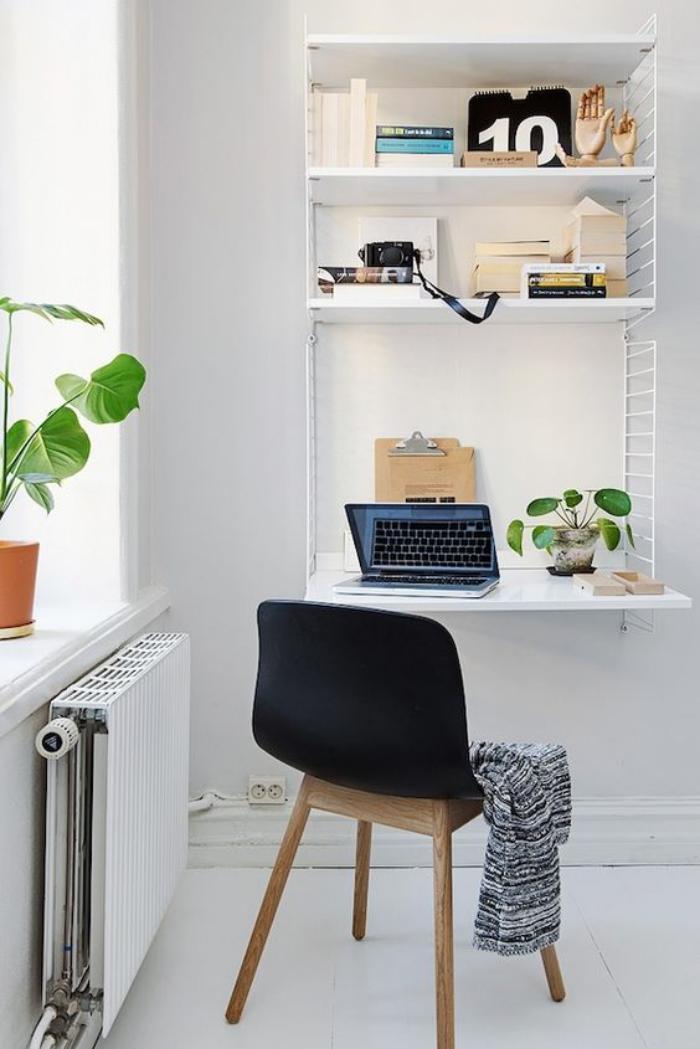 Am nagement d 39 un petit espace de travail le bureau style for Decoration style scandinave