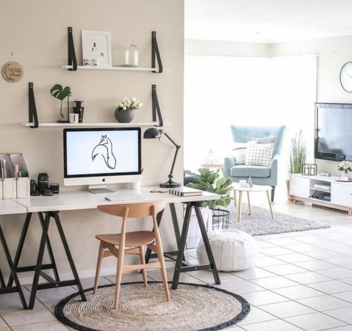 bureau-style-scandinave-intégrer-le-bureau-dans-l'intérieur