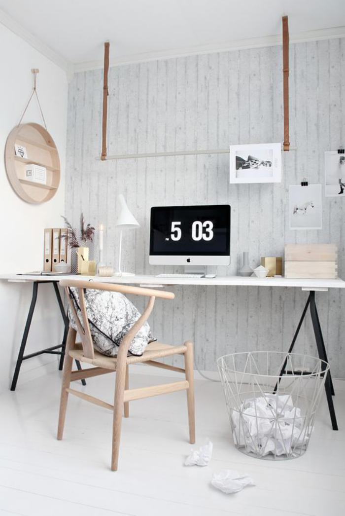 bureau-style-scandinave-meubles-scandinaves-pour-l'office-à-la-maison