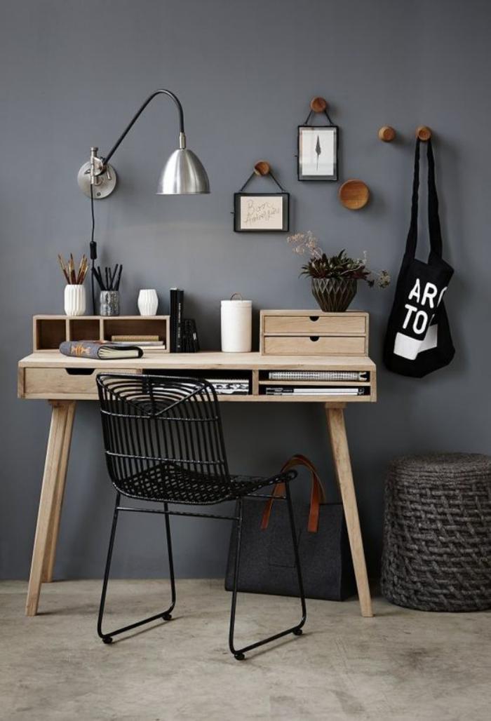 ... un petit espace de travail - le bureau style scandinave - Archzine.fr