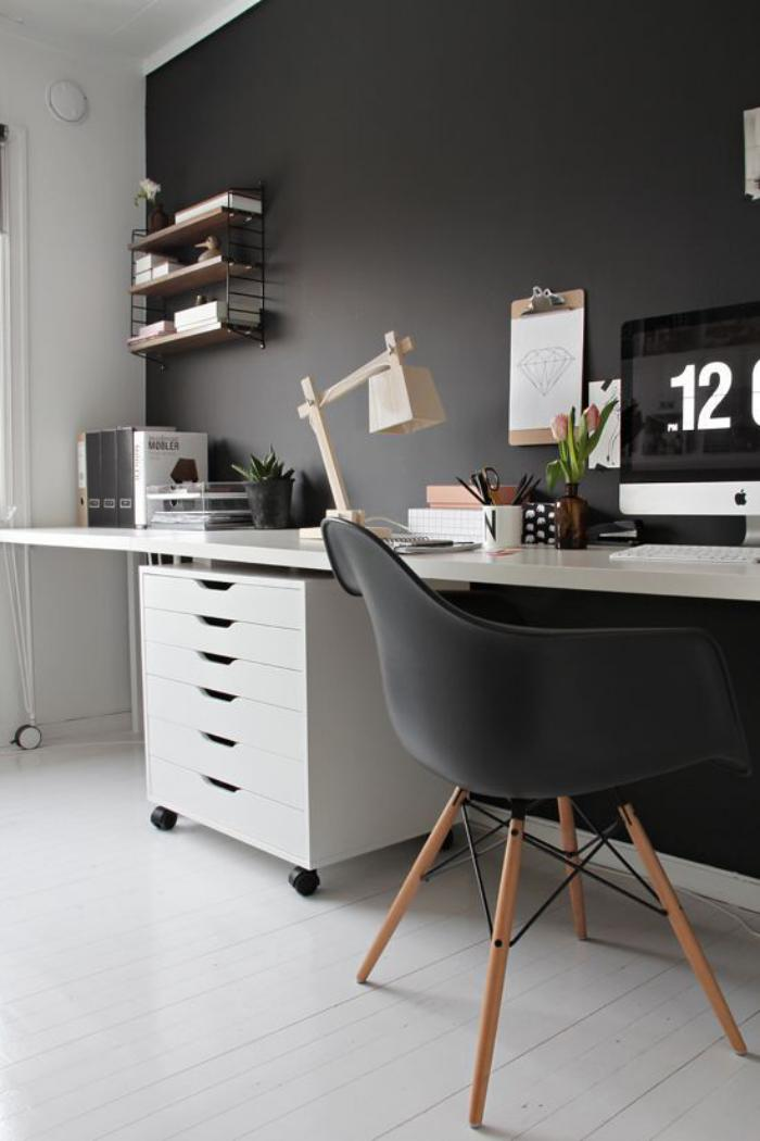 am nagement d 39 un petit espace de travail le bureau style scandinave. Black Bedroom Furniture Sets. Home Design Ideas