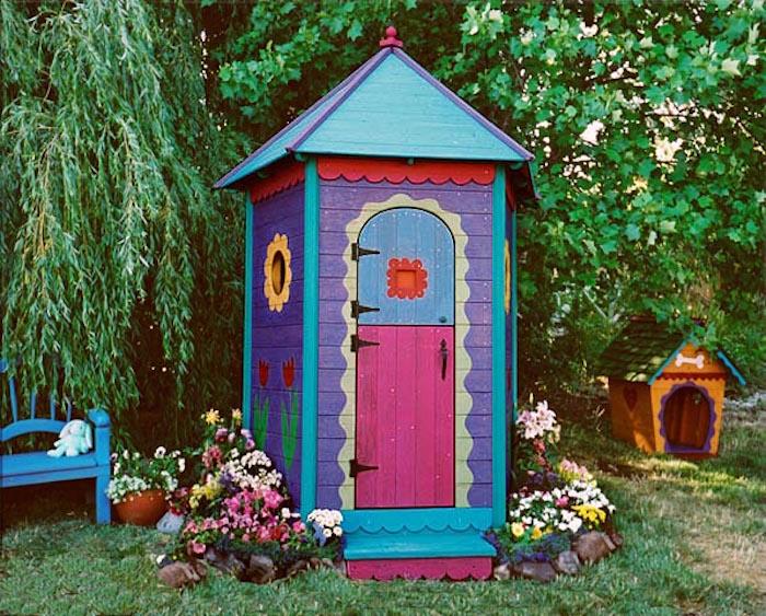 Maisonnette en bois enfant 60 jolies demeures pour les for Children s garden sheds