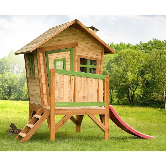 Maisonnette en bois enfant 60 jolies demeures pour les petits - Prieel tuin leroy merlin ...