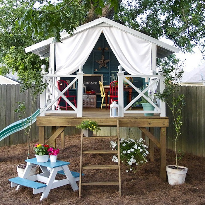 Maisonnette en bois enfant 60 jolies demeures pour les petits - Cabane de jardin design ...