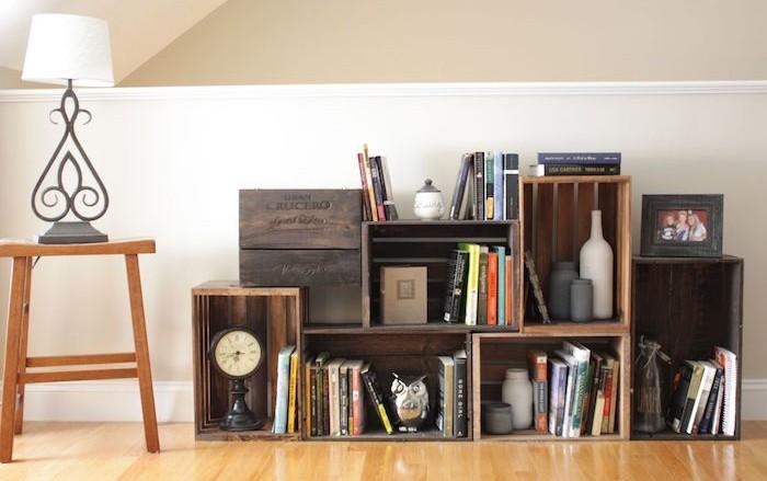 Diy recycler une caisse en bois deco en 40 id es - Ou trouver des caisse en bois ...
