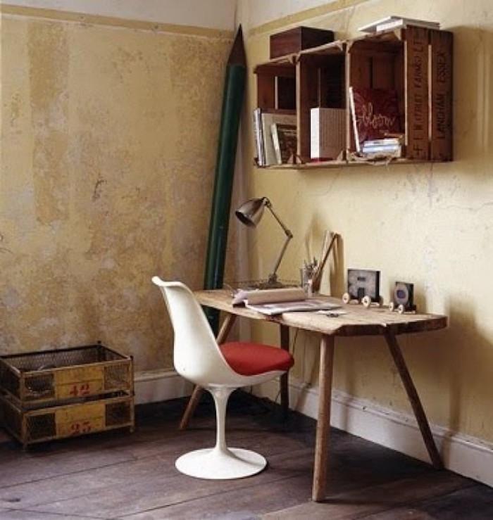Diy recycler une caisse en bois deco en 40 id es - Decoration boite bois ...