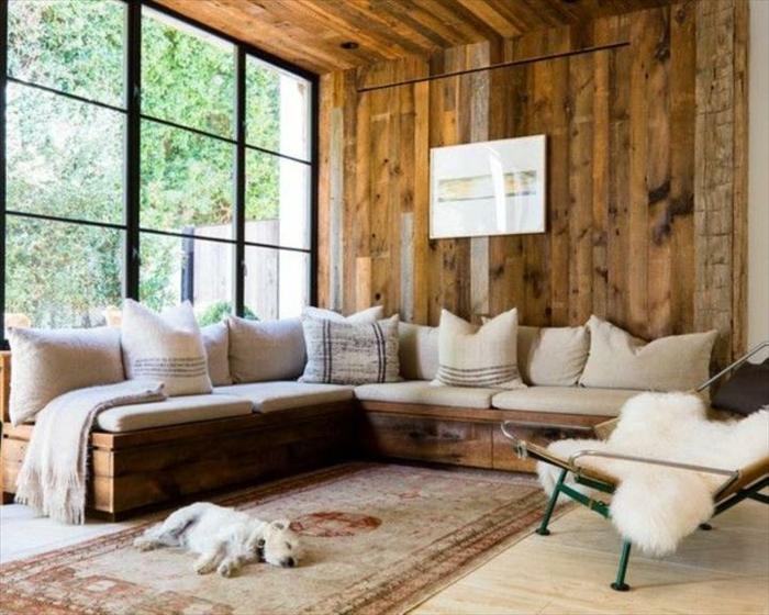 comment fabriquer un canap en palette tuto et 60 super. Black Bedroom Furniture Sets. Home Design Ideas
