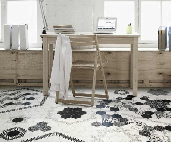 Le carrelage hexagonal une tendance qui fait son grand for Carrelage octogonal blanc