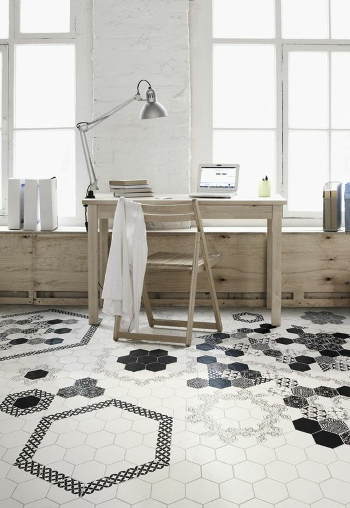 le carrelage hexagonal une tendance qui fait son grand. Black Bedroom Furniture Sets. Home Design Ideas