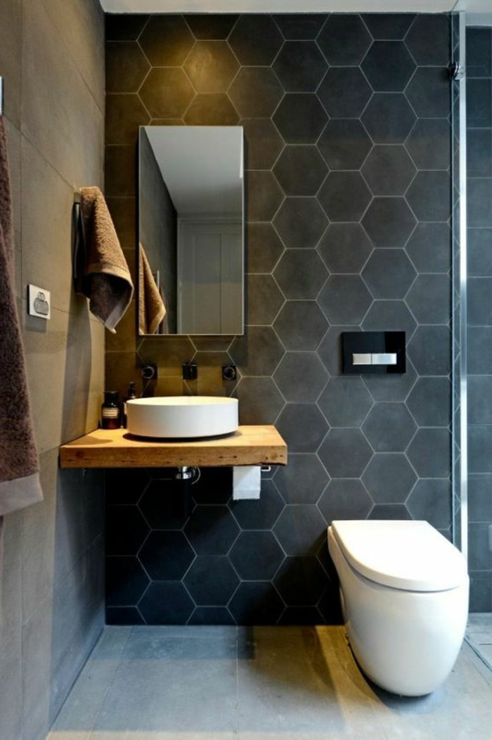 Le carrelage hexagonal une tendance qui fait son grand for Carrelage grand carreau salle de bain