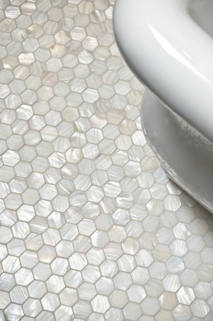 Le carrelage hexagonal une tendance qui fait son grand for Carrelage petit carreau