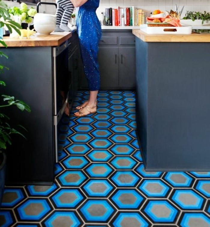 Le carrelage hexagonal une tendance qui fait son grand for Carrelage style tomette
