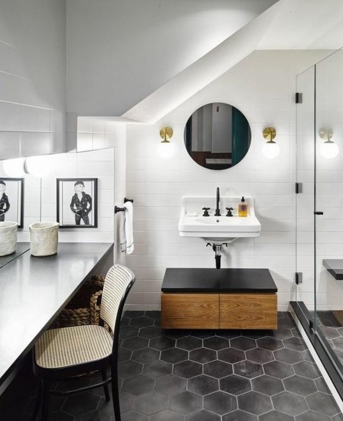 Le carrelage hexagonal une tendance qui fait son grand for Carreaux mur salle de bain