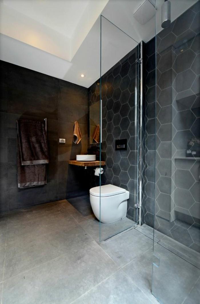 Le carrelage hexagonal une tendance qui fait son grand for Carreaux salle de bain mur