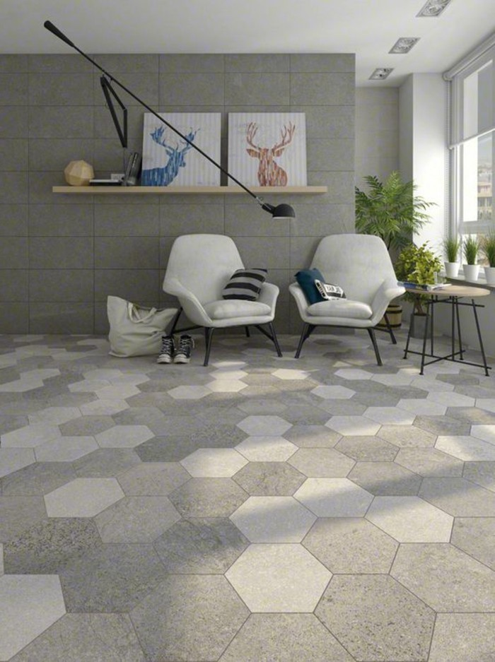 Le carrelage hexagonal une tendance qui fait son grand for Carrelage grand format 120x120